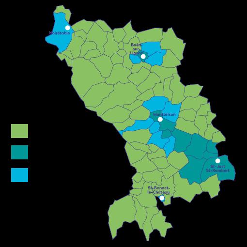 Carte fréquence de collecte déchets Loire Forez