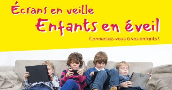 Visuel ecran en veille enfants en eveil