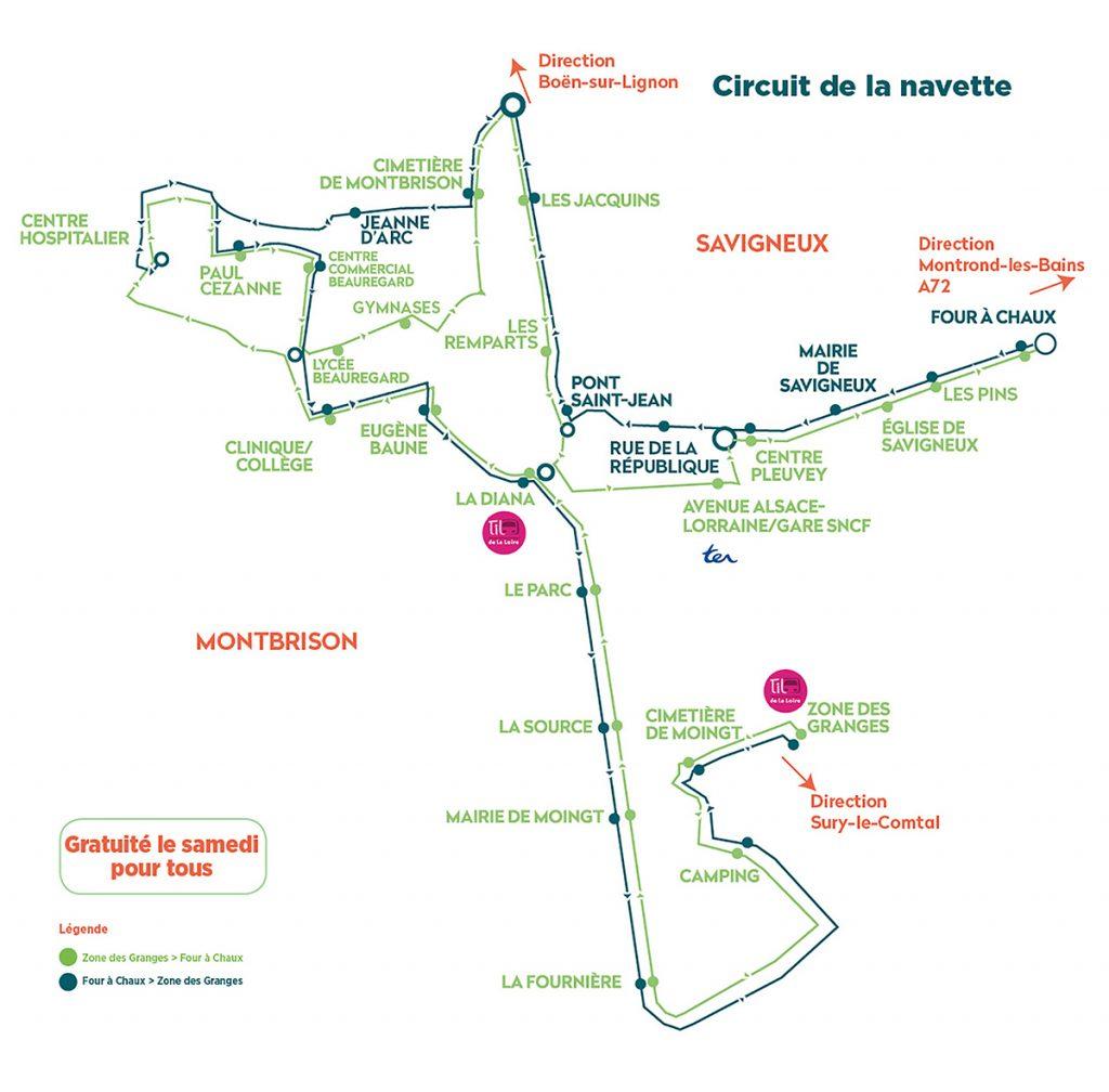 Circuit navette Montbrison savigneux