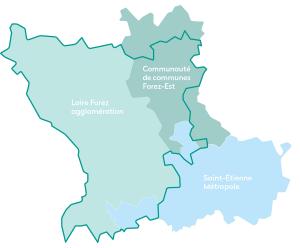 Perimetre du programme Leader Forez