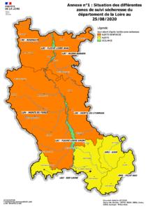 Carte situation des différentes zones de suivi sécheresse